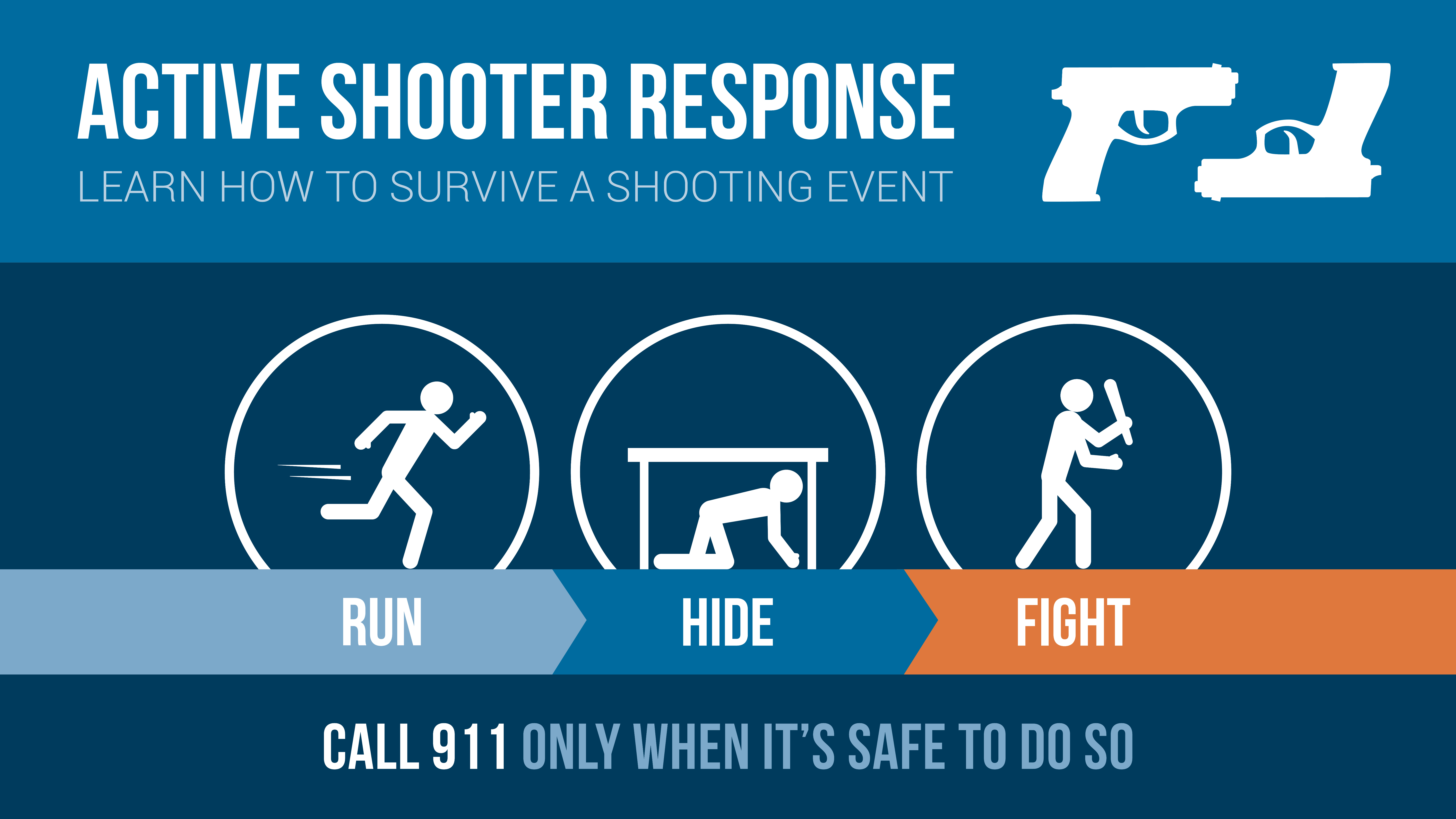 how to survive an active shooter No one ever expects to be in a mass shooting, but the orlando massacre is a reminder that it can happen anywhere at any time john matthews, a 30-year law enforcement.