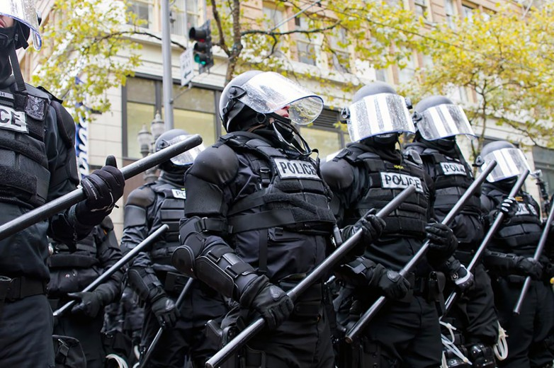 Police-in-Riot-Gear-Holding-the-Line
