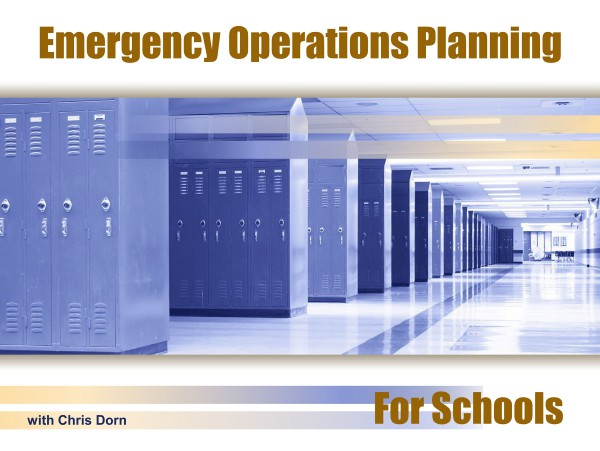 Emergency Operations Planning for Schools